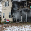 AIMEE AMBROSE | THE GOSHEN NEWS <br /> Goshen firefighters responded to a fire that heavily damaged a house at 102 Olive St. Friday afternoon.