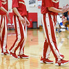 BEN MIKESELL | THE GOSHEN NEWS<br /> The Westview Warriors varsity team warms up prior to their season opener against Bethany Christian Tuesday night at Westview Jr.-Sr. High School.