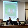 JOHN KLINE | THE GOSHEN NEWS<br /> Goshen school board members are presented with preliminary schematic designs connected to the school corporation's planned $65 million referendum project during their meeting Monday evening.