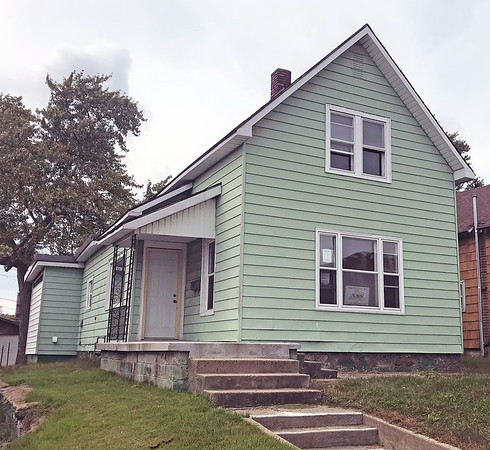 JOHN KLINE | THE GOSHEN NEWS<br /> This vacant home at 421 N. Fifth St., Goshen, was deemed unsafe for human habitation and targeted for legal action during the Goshen Board of Public Works and Safety meeting Monday afternoon.