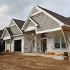 AIMEE AMBROSE | THE GOSHEN NEWS <br /> Construction work is underway on a house in the Westoria subdivision in Goshen, Ind. The house is one of several being developed in that neighborhood and other locations by Schrock Homes Inc. of Goshen.