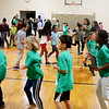 AIMEE AMBROSE | THE GOSHEN NEWS <br /> South Side Elementary School students packed the school's gym to run an obstacle course Friday as part of the school's annual Read, Walk, Move fundraiser.