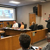 JOHN KLINE | THE GOSHEN NEWS<br /> Rob Myers, chief operating officer with Goshen Health, right, speaks about a planned $87 million expansion project currently underway at Goshen Hospital during a meeting of the Goshen Plan Commission Tuesday afternoon.