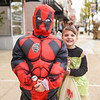 BEN MIKESELL | THE GOSHEN NEWS<br /> Tristen Cress, 6, dressed as Deadpool, with Caydence Fox, 4, dressed as Tinkerbell.