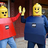 BEN MIKESELL | THE GOSHEN NEWS<br /> Diane Bailey, left, and Lisa VanderWey, both of Goshen, dressed as Lego figures.
