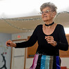 BEN MIKESELL | THE GOSHEN NEWS<br /> Rosalie Taber, 91, Osceola practices a routine Tuesday at the Music and Dance Academy in Dunlap. Taber has been dancing with the Rockerettes for nearly thirty years.