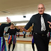 BEN MIKESELL | THE GOSHEN NEWS<br /> Dave Tibbets of Elkhart practices a routine Tuesday morning at the Music and Dance Academy in Dunlap. Tibbets is the only man in the 20-person senior tap-dancing group, the Rockerettes.