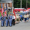 JOHN KLINE | THE GOSHEN NEWS<br /> Participants in the 2018 Ligonier Marshmallow Festival Grand Parade make their way east along Union Street near downtown Ligonier Monday afternoon.
