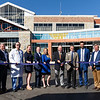 BEN MIKESELL | THE GOSHEN NEWS<br /> Attending the Alice A. And Rex Martin Infusion Center ribbon cutting ceremony, from left, are Susan Franger, Jim Caskey, Len Henry, Ashley Martin, Shawn Klose, Alexis Martin-Klose, Rex Martin, Goshen Health CEO Randy Christophel, Mayor Jeremy Stutsman, contractor Larry Weigand and architect Tom Salzer.