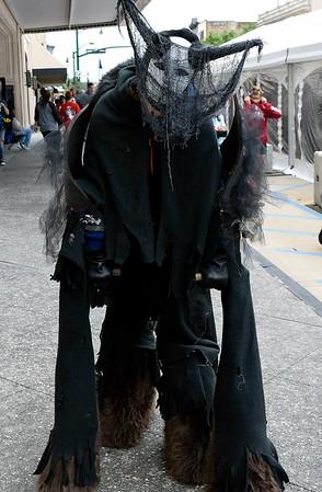 Christina Clark | The Goshen News<br /> Renee Rodabaugh, Elkhart, cosplays Saturday as a spirit walker.