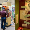 BEN MIKESELL | THE GOSHEN NEWS<br /> A man looks through the Sorting Out Race exhibit on display Saturday morning at the Depot Mennonite Central Committee Thrift Shop in Goshen.