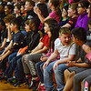 BEN MIKESELL | THE GOSHEN NEWS<br /> Concord South Side Elementary students react to a routine performed by dancers from Epic Dance Studio during a rally Thursday afternoon at Concord South Side.