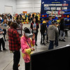 BEN MIKESELL | THE GOSHEN NEWS<br /> Students from local middle schools tour through exhibits Wednesday morning during the Horizon Education Alliance's Career Quest at Center Six One Five in Elkhart. During the hour-long hands-on tours, students could learn from nearly 50 businesses in four sectors, including construction, information technology, health care and advanced manufacturing.