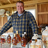 BEN MIKESELL | THE GOSHEN NEWS<br /> Syrup-maker John Loucks stands in his sugar camp Wednesday afternoon in Wakarusa. The sugar camp will be open for tours during this weekend's Wakarusa Maple Syrup Festival.