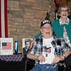 AIMEE AMBROSE | THE GOSHEN NEWS (from left) Veteran James Kehr laughs with his wife, Marilyn Kehr, during a send-off ceremony at Waterford Crossing in Goshen Tuesday ahead of the Navy veteran's Honor Flight to Washington, D.C.