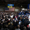 BEN MIKESELL | THE GOSHEN NEWS<br /> The crowd listens to South Bend mayor Pete Buttigieg announce his running in the 2020 presidential election Sunday afternoon at the Studebaker Building 84 in South Bend.