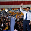 BEN MIKESELL | THE GOSHEN NEWS<br /> South Bend mayor Pete Buttigieg announces his running in the 2020 presidential election Sunday afternoon at the Studebaker Building 84 in South Bend.