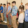 JOHN KLINE | THE GOSHEN NEWS<br /> Students participating in the new CareerWise Elkhart County initiative, a business-led, student-centered modern apprenticeship program for high school students, are recognized during a special press event announcing the launch of the new initiative at Ivy Tech Community College in Goshen Friday morning.