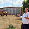 CAMDEN CHAFFEE | THE GOSHEN NEWS<br /> Goshen Community Schools assistant superintendent in charge of secondary education, Steve Hope, discusses the construction projects at Goshen High School  Wednesday.