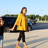 CAMDEN CHAFFEE | THE GOSHEN NEWS<br /> Heidi Robles walks with her daughter Itzia Wednesday on her first day as a kindgergartner at New Paris Elementary School.