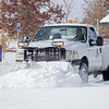 Joseph Weiser| The Goshen News<br /> Goshen parks department snowplow clears the parking lot of Hay Park Tuesday after a record snowfall for Elkhart County of 13 inches fell between Monday night and Tuesday morning. The previous record for Nov.11-12 of 3 1/2 inches was set back in 1959.