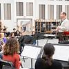 Joseph Weiser | The Goshen News<br /> Goshen High School Band Director Tom Cox teaches a music class at the high school Wednesday afternoon.