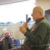 Elkhart County Council on Aging CEO David Toney speaks to the seniors attending the Elkhart County Council on Aging Christmas party at First Presbyterian Church in Elkhart Thursday.