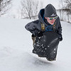 BEN MIKESELL | THE GOSHEN NEWS<br /> Austin King, of Goshen, speeds down the hill at Abshire Park Saturday afternoon in Goshen.