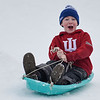 BEN MIKESELL | THE GOSHEN NEWS<br /> Alex Scales, 9, of Goshen, speeds down the hill Saturday afternoon at Abshire Park.