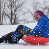 BEN MIKESELL | THE GOSHEN NEWS<br /> Makayla Scales, 12, of Goshen, speeds down the hill Saturday afternoon at Abshire Park.