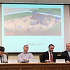 JOHN KLINE | THE GOSHEN NEWS<br /> Members of the Goshen City Council and Goshen school board listen to an update on upcoming 2019 Goshen Parks and Recreation Department projects during a special joint meeting of the two groups at the Goshen Community School Administration Building Tuesday evening.