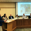 JOHN KLINE | THE GOSHEN NEWS<br /> Leslie Biek, civil traffic engineer for the city, provides a update on some of the more impactful road and trail projects set for work in 2019 during a special joint meeting of the Goshen City Council and Goshen school board Tuesday evening.