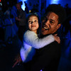 BEN MIKESELL | THE GOSHEN NEWS<br /> Tyris Green, Goshen, dances with his daughter Vykdoriya during the annual Dadddy Daughter Dance Wednesday night at the Elkhart County 4-H Fairgrounds.
