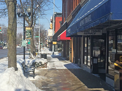 Roger Schneider | The Goshen News Goshen's Main Street is lined with buildings representing a variety of architecture types.  A committee may be formed to review a city ordinance that regulates what changes can be made to the buildings.