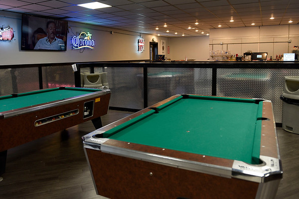 BEN MIKESELL | THE GOSHEN NEWS<br /> The new bar area in Maple City Bowl has what owner Roger Brown calls a nouveau industrial style, with diamond plating on the walls to pay homage to the RV industry.