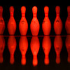 BEN MIKESELL | THE GOSHEN NEWS<br /> One addition to the lanes at Maple City Bowl are color-changing lights that shine on the bowling pins.