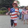 "DENISE FEDOROW | THE GOSHEN NEWS NEWS<br /> Kyle Zimme, who his a freshman at Bremen High School, was decked out like Uncle Sam so he could ""outdo everybody else,"" during Fourth of July festivities Monday in Nappanee."
