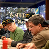 BEN MIKESELL | THE GOSHEN NEWS<br /> Vietnam veteran Steve Dinehart, Elkhart, looks across the table at fellow veterans gathered for the weekly breakfast Nov. 1, 2018, at Evan's Sidewalk Cafe in Bristol. Dinehart was a Master Sergeant during his service in the Vietnam War from 1969-70.