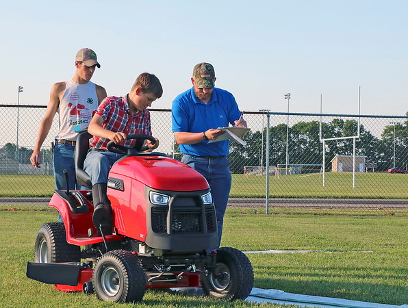 CAMDEN CHAFFEE | THE GOSHEN NEWS<br /> Izaak Carey is judged in the annual LaGrange 4-H Tractor Contest on Monday, July 1. The Tractor contest has been a part of the LaGrange 4-H program for more than 60 years.