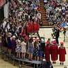 "KORY STONEBURNER-BETTS | THE GOSHEN NEWS<br /> The NorthWood High School combined choirs perform ""Things That Never Die"" during commencement Friday night."