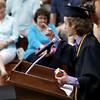 KORY STONEBURNER-BETTS | THE GOSHEN NEWS<br /> Senior Luke Lingle delivers a speech before his fellow graduates at NorthWood High School Friday night.