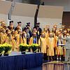 SHEILA SELMAN | THE GOSHEN NEWS<br /> The Fairfield High School senior choir sings during commencement Sunday afternoon.