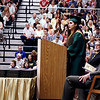 KORY STONEBURNER-BETTS | THE GOSHEN NEWS<br /> Wawasee senior class president Lesley Tayagua Lua speaks to fellow graduates Sunday afternoon during commencement ceremonies.
