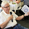 JOHN KLINE | THE GOSHEN NEWS<br /> Bill Long, who has 61 years with the Goshen Rotary Club, speaks during the club's 100th anniversary celebration at Maplecrest Country Club in Goshen Friday afternoon.