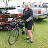JOHN KLINE | THE GOSHEN NEWS<br /> Nora Kasprzycki, of Hammond, Indiana, poses for a photo prior to the kickoff of the 20th annual Pumpkinvine Bike Ride and fundraiser at the Elkhart County 4-H Fairgrounds early Saturday morning.