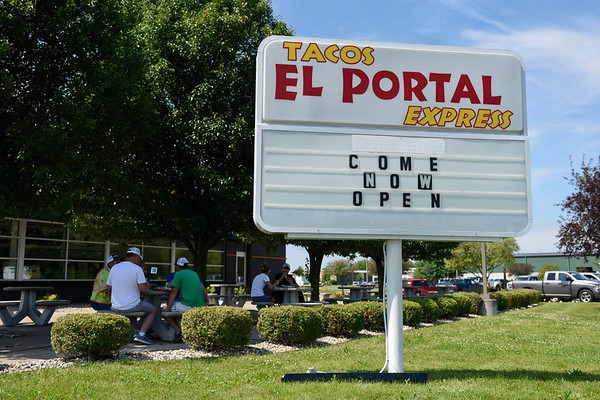 BEN MIKESELL | THE GOSHEN NEWS<br /> Tacos El Portal Express opened its doors Thursday morning at 2702 Caragana Ct in Goshen. The owners, Jesus Ordonez and Maria Avalos, will continue driving their food truck in two weeks, they said.