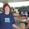JOHN KLINE | THE GOSHEN NEWS<br /> Kathleen Lichtenberger, a volunteer with the Elkhart County chapter of national aid organization Sleep in Heavenly Peace, poses for a photo during the first-ever national Bunks Across America bed build challenge held Saturday morning at the Life Center in Goshen.