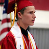 Roger Schneider | The Goshen News<br /> Jonathon Snyder speaks to his classmates at the Goshen High School graduation Sunday.
