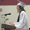 Roger Schneider | The Goshen News<br /> Jocelyn Walters was one of the summa cum laude speakers during the Goshen High School graduation ceremony Sunday.