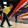 BEN MIKESELL | THE GOSHEN NEWS<br /> Brian Prieshoff, with Transhield in Elkhart, winds up to bowl during the annual Bowl for Kids' Sake Thursday afternoon at Signature Lanes in Elkhart. Twenty-seven companies were represented in 98 teams for this year's fundraiser, organized by Big Brothers Big Sisters of Elkhart County.